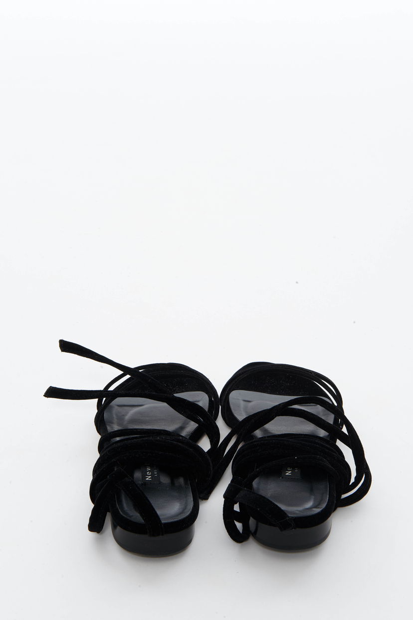 Newbark Black Velvet Rosa Sandals (Originally $395) Sale Shoes