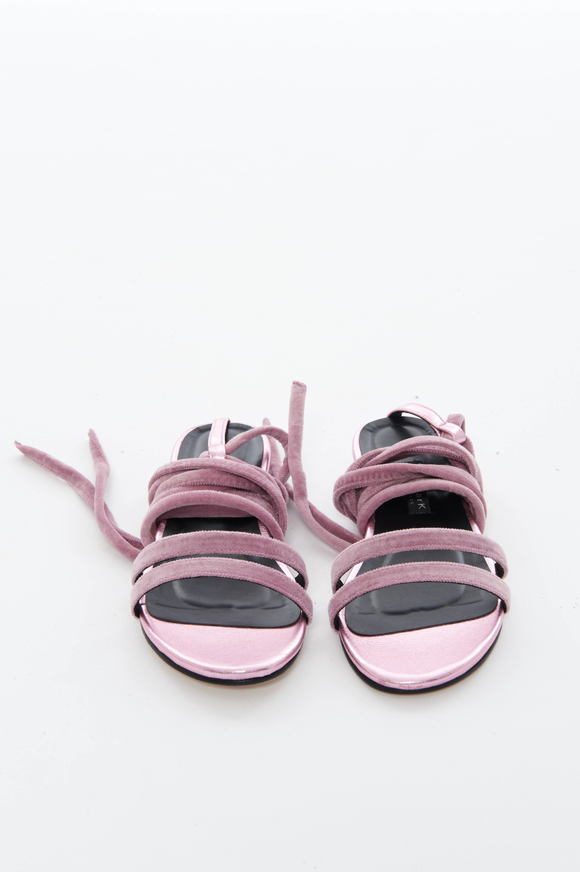 Newbark Pink Velvet Rosa Sandal (Originally $395) Sale Shoes