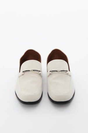 Newbark Ivory Suede Melanie Loafer Shoes