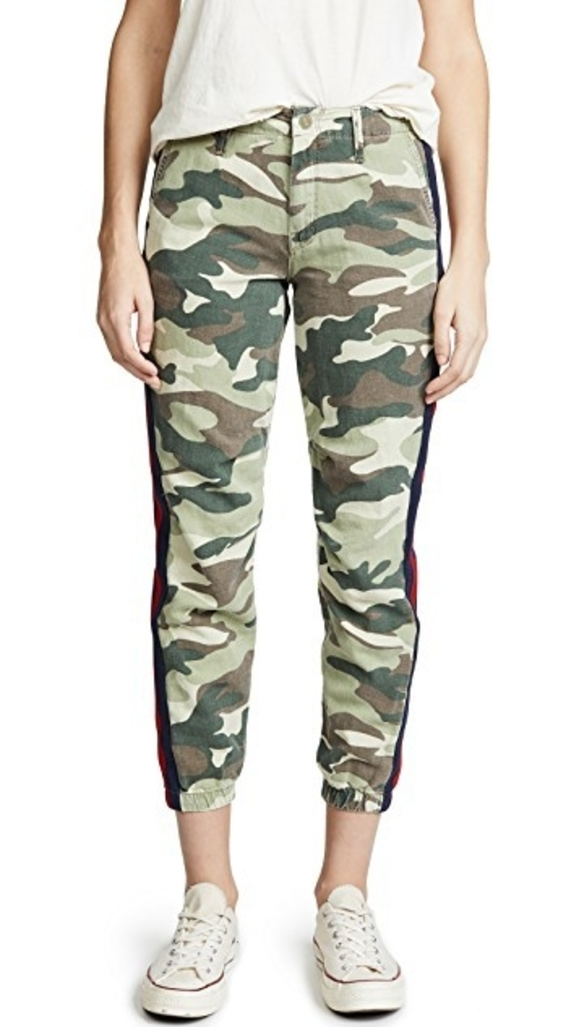 Mother The No Zip Misfit - Camouflage Pants