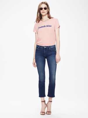 Mother The Outsider Crop - Fast Times Blue Pants