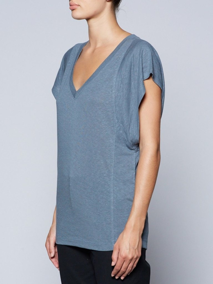 Brochu Walker The Sawtelle Tee - Blue Tops