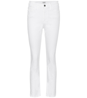 FRAME Le High Straight - Blanc Pants