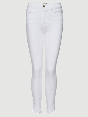 FRAME Le High Skinny Shredded Raw - Blanc Pants