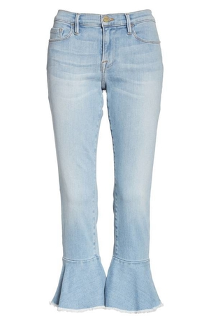 Frame Denim Flounce Jean Pants Sale