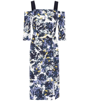 Erdem Verena Floral Print Dress Dresses
