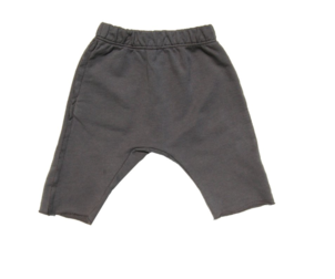 GO GENTLY NATION RAW HEM TRACK SHORT - CHARCOAL