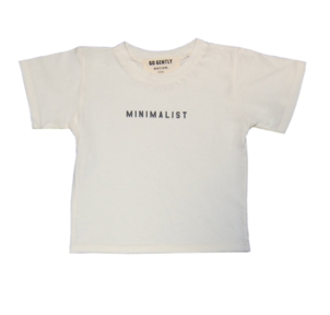 GO GENTLY NATION MINIMALIST TEE - SOFT WHITE