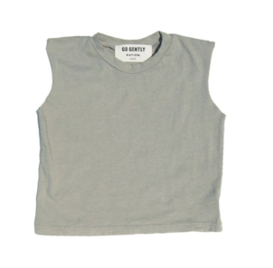 GO GENTLY NATION MUSCLE TEE - EUCALYPTUS