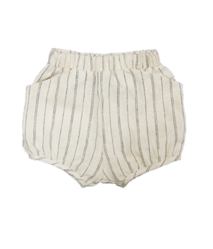 GO GENTLY NATION STRIPE WOVEN SHORT - NATURAL HEMP STRIPE