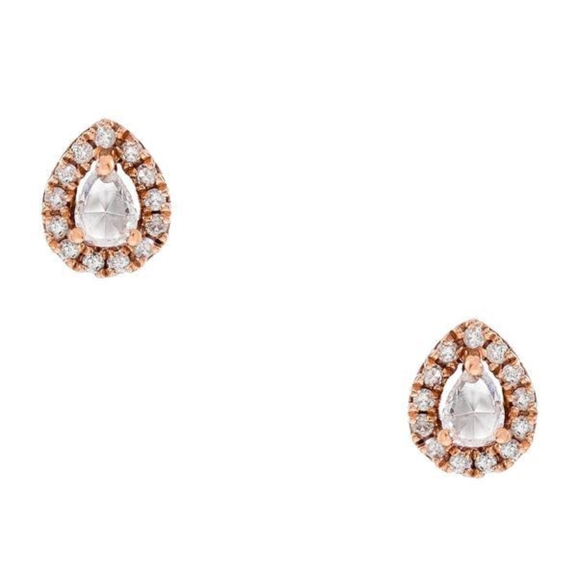 Meredith Marks Meredith Marks 'Nikki' rose gold diamond studs Jewelry