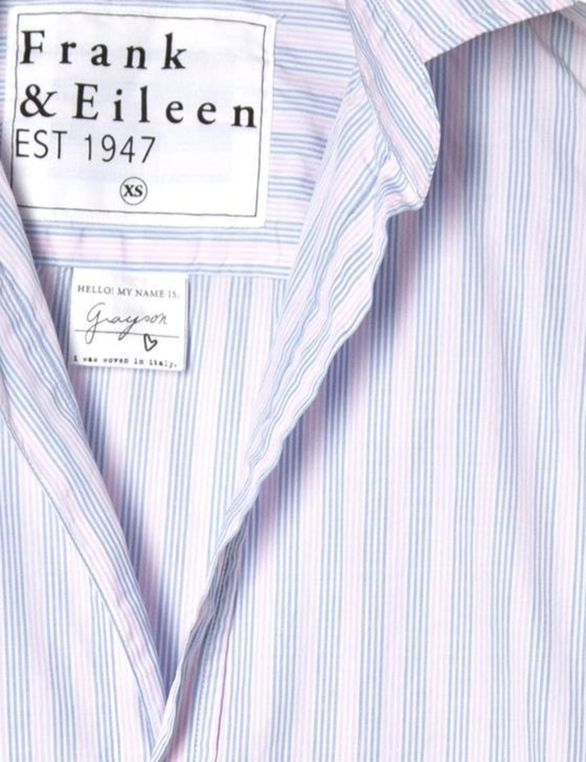 Frank & Eileen Frank & Eileen l/s button down multi stripe pink and blue Tops