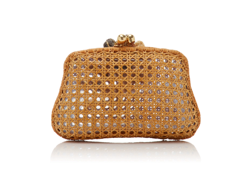 Serpui Blair Wicker Miniaudiere - Tan Bags