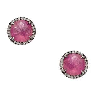 Meredith Marks Pink Sapphire earrings by Meredith Marks Jewelry