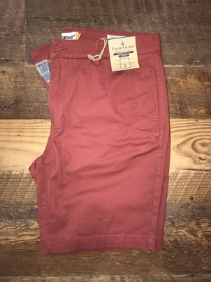 "Tailor Vintage 9"" Stretch Twill Walking Short in Red"
