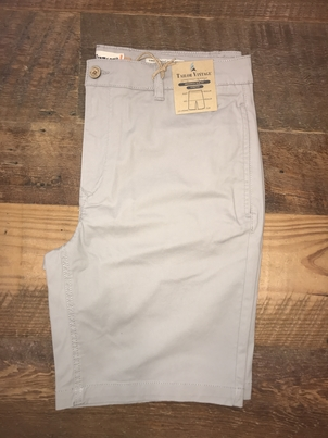 "Tailor Vintage 9"" Stretch Twill Walking Short in Grey"