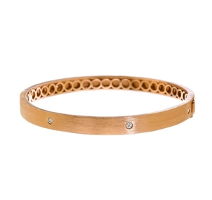 Meredith Marks Rose Gold & Diamond bangle Jewelry