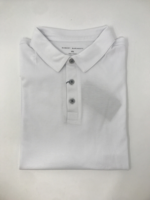 robert barakett Short Sleeve Polo Interlock in White Tops