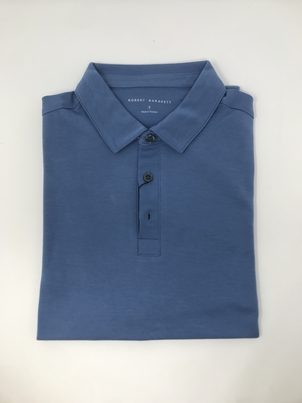 robert barakett Short Sleeve Polo Interlock in Blue Tops