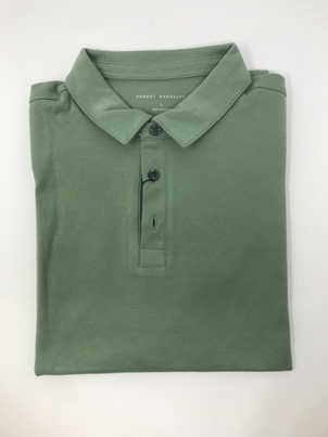 robert barakett Short Sleeve Polo Interlock in Green Tops