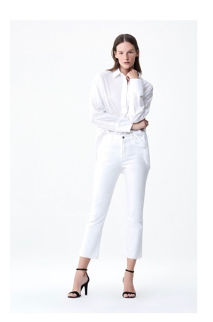 Citizens of Humanity Cropped white flare by Citizens of Humanity Pants