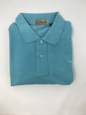 M. Dumas & Sons Dumas Short Sleeve Polo in Turqoise Tops