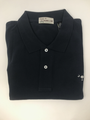 M. Dumas & Sons Dumas Short Sleeve Polo in Navy Tops