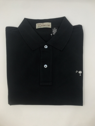 M. Dumas & Sons Dumas Short Sleeve Polo in Black Tops