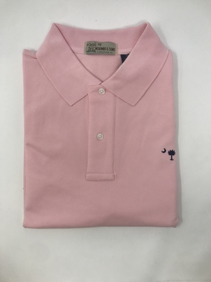 M. Dumas & Sons Dumas Short Sleeve Polo in Pink Tops