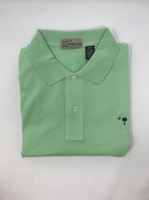 M. Dumas & Sons Dumas Short Sleeve Polo in Green Tops