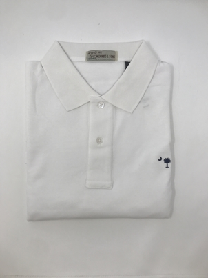 M. Dumas & Sons Dumas Short Sleeve Polo in White Tops