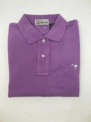 M. Dumas & Sons Dumas Short Sleeve Polo in Purple Tops
