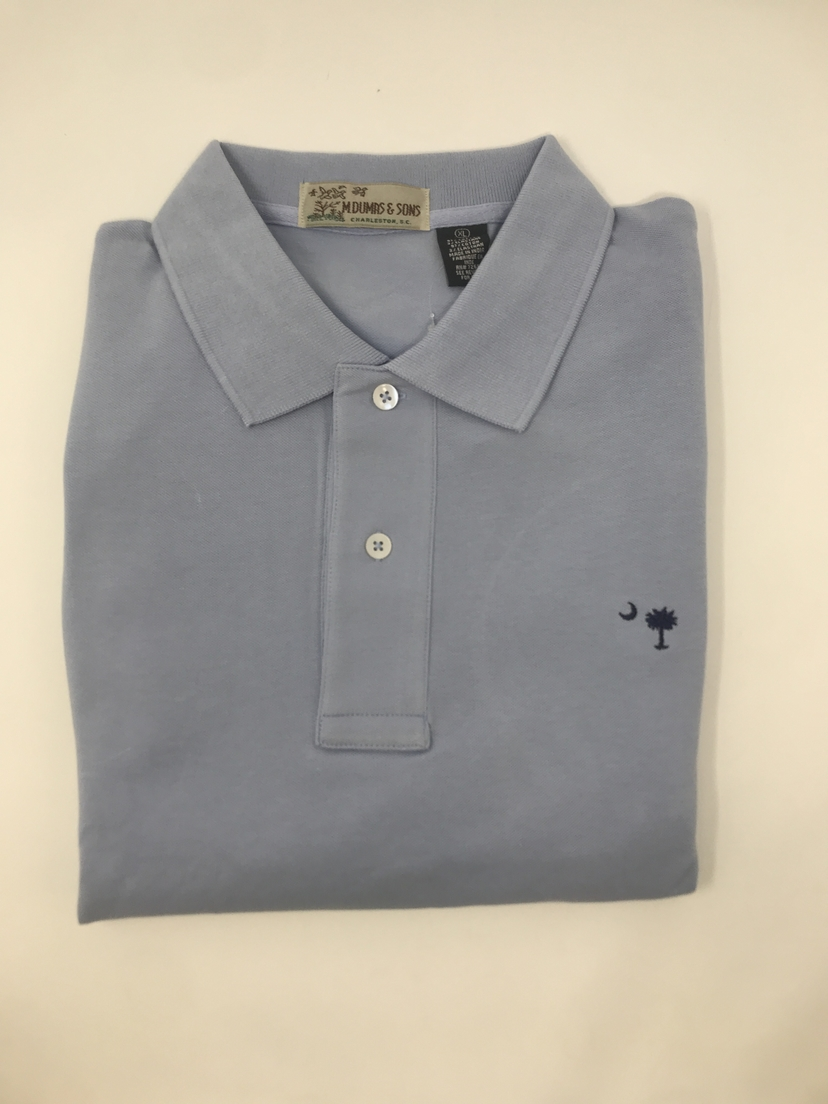 M. Dumas & Sons Dumas Short Sleeve Polo in Light Blue Tops