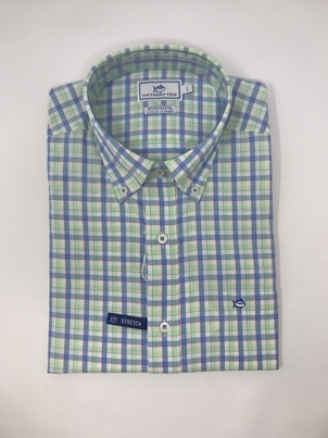 Southern Tide Long Sleeve Gingham Button Down Tops