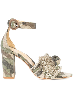 Marion Parke Camo Ankle Wrap Heel Shoes