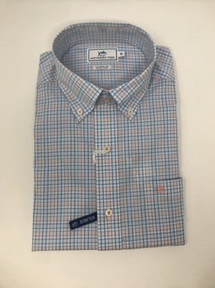 Southern Tide Pinneys Beach Plaid Button Down Tops