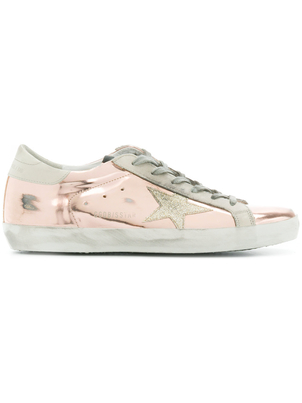 Golden Goose Deluxe Brand Pink Platinum Superstars Shoes