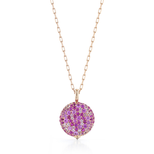 Walters Faith Chantecaille Large 18K Pink Sapphire Pebble Jewelry