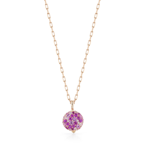 Walters Faith Chantecaille Small 18K Pink Sapphires Pebble Jewelry