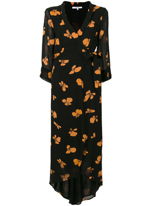 Ganni Floral Long Sleeve Maxi Dress Dresses