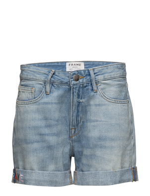 FRAME Embroidered Cuffed Shorts Shorts