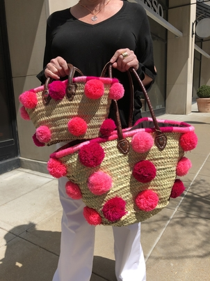 Pink Pom Bags