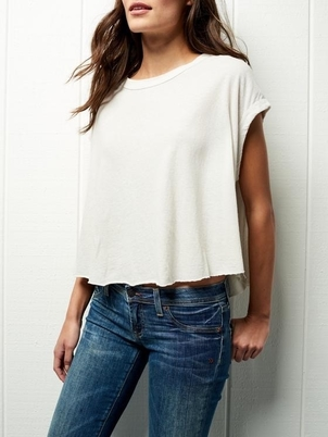 Frank & Eileen FRANK AND EILEEN CROPPED MUSCLE TANK VINTAGE WHITE Tops