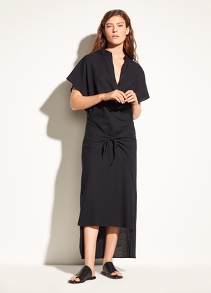 Vince Wrap Front Cotton Dress Dresses