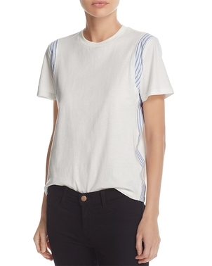 Derek Lam 10 Crosby Mixed Media Tee Tops