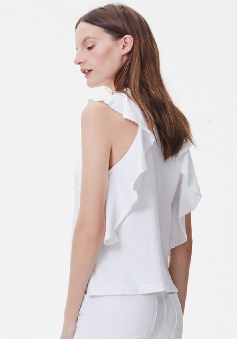 Citizens of Humanity Frill Tank in White Tops