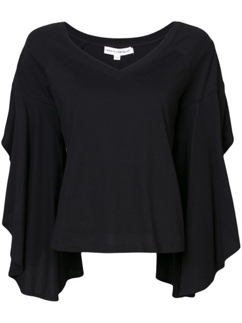 Robert Rodriguez Ruffle Sleeve Top Sale Tops