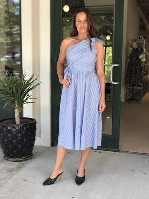 A.L.C. Cabrera Stripe One-Shoulder Dress Dresses