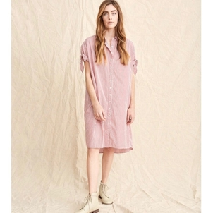 The Great. The Tie Sleeve Camper Shirt Dress Dresses