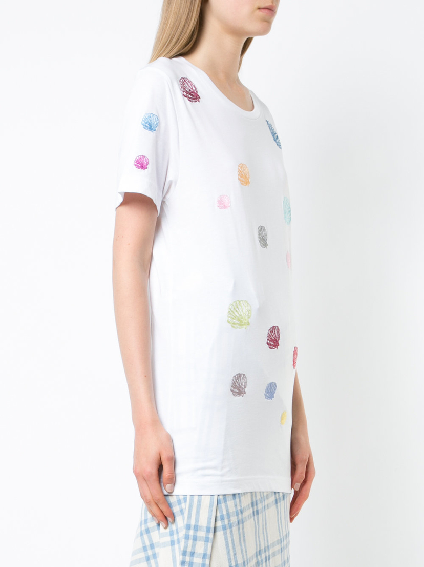 Rosie Assoulin Seashell Embroidered T-Shirt Tops